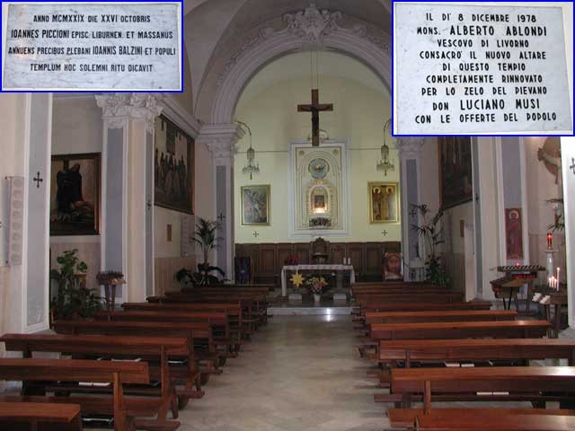 Gabbro l 39 interno della chiesa di s michele for Interno chiesa